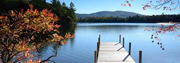 Picture of a dock in Squam Lake, New Hampshire